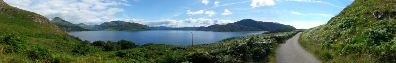 View from above Inverie